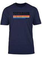 Vintage 80S Style Tottenham England T Shirt