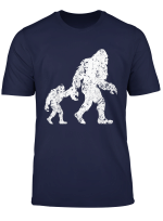 Bigfoot And His Son Wild Outdoor Yeti Father S Day Gift T Shirt
