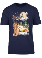 Cocker Spaniel Comes To Town Funny Christmas Gift T Shirt