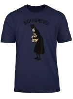 Anti Christmas Carol Scrooge Tophat Bah Humbug T Shirt