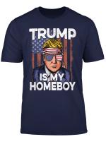 Donald Trump 2020 Shirt Homeboy Glasses Usa Flag 4Th Of July T Shirt