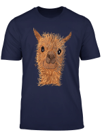 Alpaka Lama Shirt Susses Alpaka Niedlicher Alpakakopf Shirt