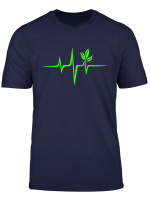 Puls Grun Herzschlag Vegan Heartbeat Pflanze Baum T Shirt