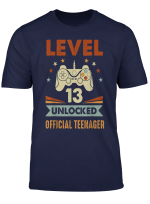 Official Teenager 13Th Birthday T Shirt Level 13 Unlocked