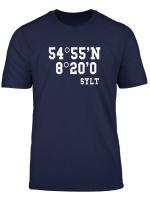 Sylt Koordinaten Shirt Insel Urlaub Geschenk