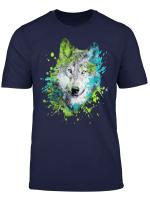 Wolfe Liebhabergeschenke Des Aquarellwolfkopfes Bunte T Shirt