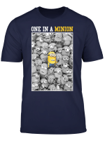 Despicable Me One Yellow Minion In Sea Of Bw Minions T Shirt