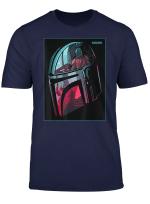 Star Wars The Mandalorian Neon Helmet T Shirt