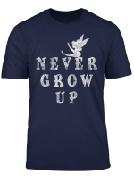 Disney Peter Pan Tinker Bell Never Grow Up Simple T Shirt