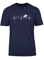 Pferd Reiter Herz Silhouette Ekg Herzschlag Hobby T Shirt