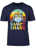 Bampy Shark Shirt Gifts For Grandad From Grandchildren T Shirt