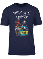 Welcome Campers Funny Camping T Shirt 80S Horror Movie