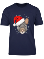Rat Christmas Santa Hat Xmas Gifts Kids Boys Girls T Shirt