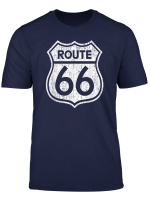 Historic Route 66 Highway Road Sign Graphic T Shirt