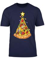 Pizza Christmas Tree Lights Xmas Men Boys Crustmas Gifts T Shirt