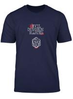 Evil Rpg Dungeon Master D20 Bloody Dice Design T Shirt
