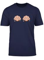 Womens Mermaid Shell Funny T Shirt