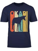 Vintage Retro Okapi Silhouette T Shirt