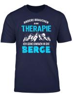 Berge Therapie T Shirt Klettern Shirt Geschenk