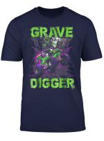 Grave Green Digger T Shirt Monster Truck Shirt Tee Kids