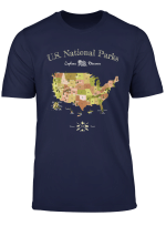 National Park Map Shirt All Us National Parks Vintage T Shirt