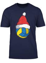 Volleyball Christmas Santa Claus Birthday Family Sports T Shirt