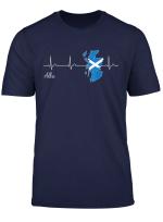 Alba Herzschlag T Shirt I Liebe Schottland Flagge Idee