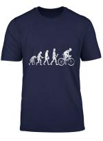 Evolution Fahrradfahrer Radfahrer Geschenk Fahrrad T Shirt