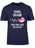 Christmas Nana Grandma Shark Gift Matching Grandchildren T Shirt