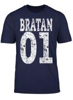 Bratan 01 T Shirt Rap Hip Hop Brudi Russisch Bruder Geschenk