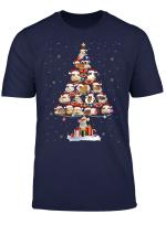Guinea Pig Christmas Tree In Snow T Shirt Funny Santa Xmas T Shirt