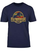 Mens Fatherhood Like A Walk In The Park T Shirt Dad Retro Sunset T Shirt