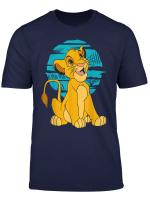 Disney The Lion King Young Simba Happy Blue Retro T Shirt