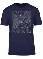 Heilige Geometrie T Shirt Fibonacci Weiss Golden Spirale