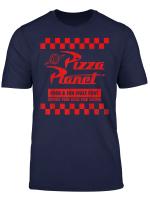 Disney Pixar Toy Story Pizza Planet Checkered Logo T Shirt