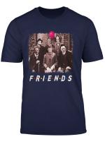 Friends Halloween Horror Team Scary Movies Costume T Shirt Langarmshirt