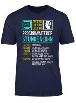 Programmierer Stundensatz Spruch Shirt Stundenlohn T Shirt