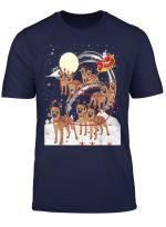 Border Terrier Reindeer Christmas 2018 Dog T Shirt
