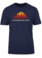 Red Horse Sunset T Shirt Nothing Without His Horse