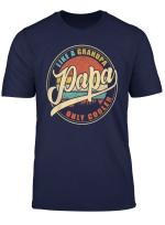 Mens Papa Like A Grandpa Only Cooler Shirt For Dad Grandpa T Shirt