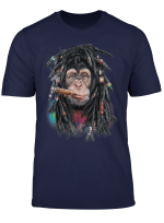 Schimpanse Affe Als Dreadlocks Hippie Reggae Dreadlocks T Shirt