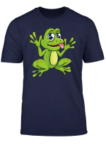 Frosch Frosche Comic Cartoon T Shirt