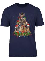 Border Terrier Christmas Dog Tree Funny Xmas Gift T Shirt