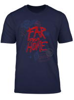 Marvel Spider Man Far From Home Travel Stamps T Shirt