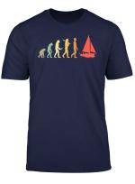 Retro Sailing Evolution Gift For Sailors Skippers T Shirt