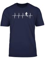Skifahren Herzschlag Heartbeat T Shirt Skifahrer Geschenk T Shirt