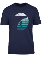 Rock Climbing T Shirt Retro Moon Mountain Climber Gift