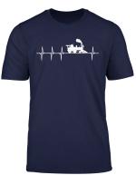 Eisenbahn Fan Lok Lokomotive Herzschlag Heartbeat Geschenk T Shirt