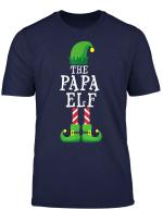 Papa Elf Matching Family Group Christmas Party Gift Pajama T Shirt