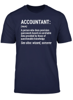 Funny Accountant Definition T Shirt Cpa Bookkeeper Tee Gift